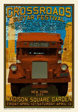 Eric Clapton's Crossroads Guitar Festival 2013 Poster